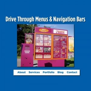 Drive Through Menus & Navigation Bars