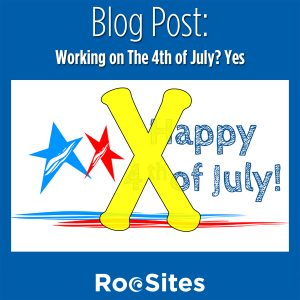 Working on The 4th of July? Yes