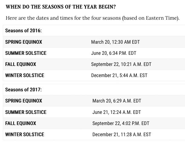 Season's Change Calendar 2016, 2017