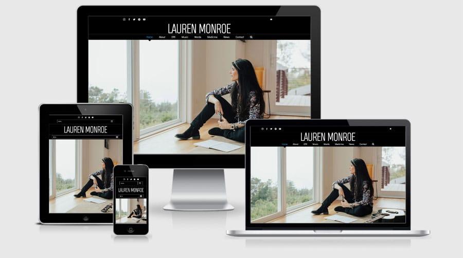 Lauren Monroe Website Launch! » RooSites Web Development, LLC
