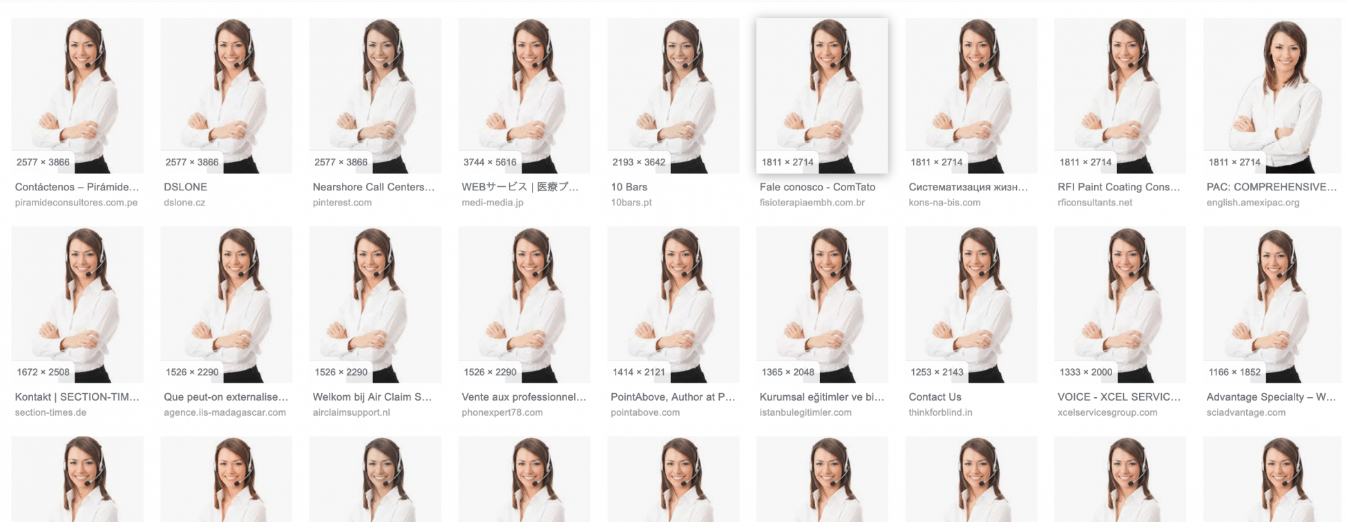 This Photo is on 100s of site and example of overused Stock Photos