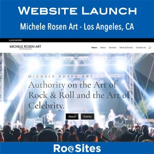 Congratulations to Michele Rosen Art of Los Angeles on the launch of your new website!