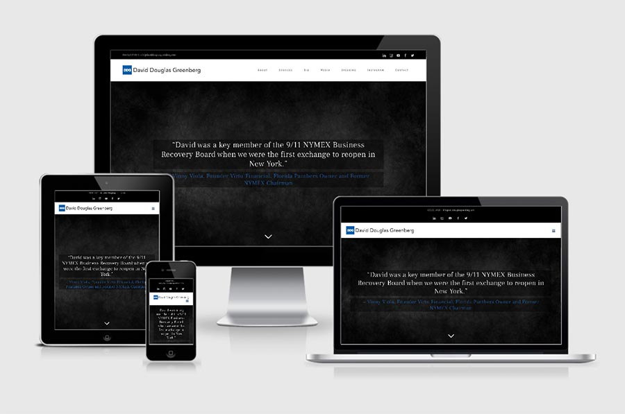 Image of David Douglas Greenberg Website -Responsive