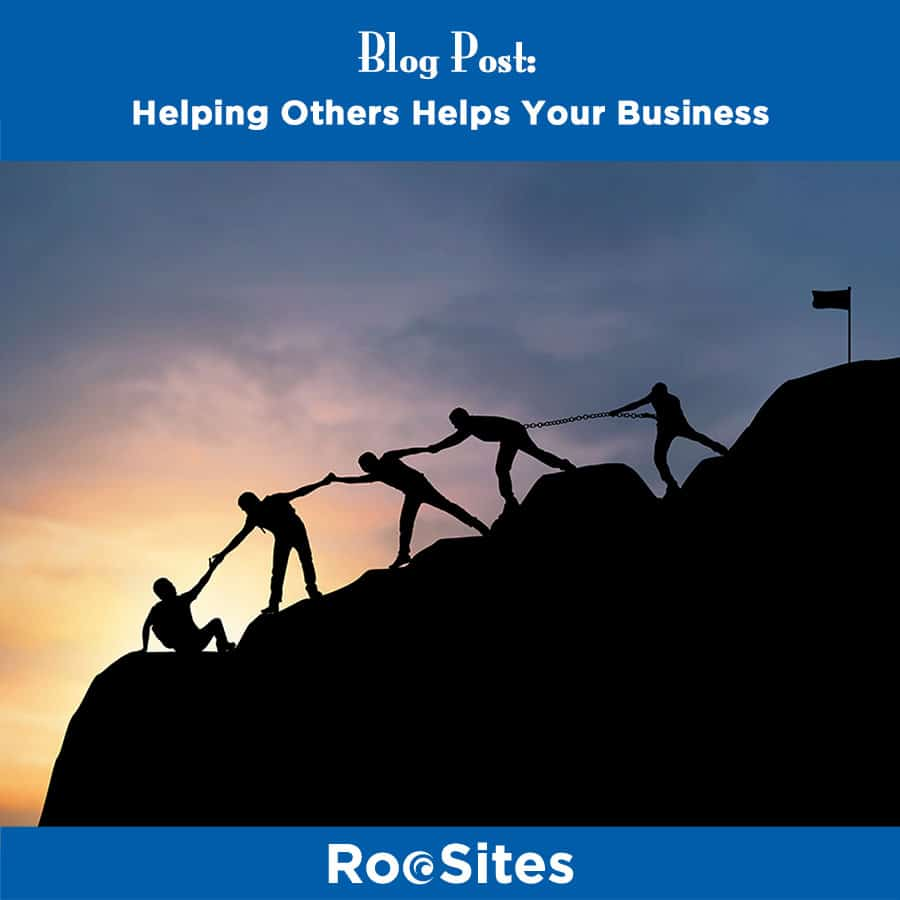 Blog Post Helping Others Helps Your Business Web