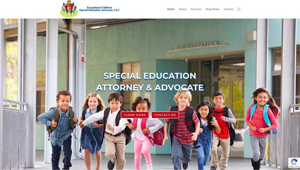 Exceptional Children Special Education Advocacy Screen Shot