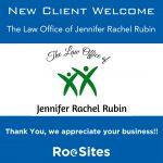 New Client Welcome: The Law Office of Jennifer Rachel Rubin